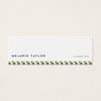 White simple minimal green elegant retro card