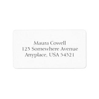 White Simple Plain Address Labels