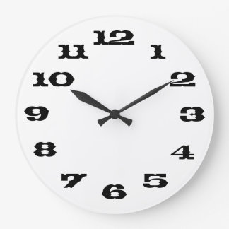 White simplicity large clock