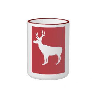 White Single Reindeer Mug