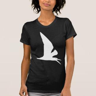 White Skimmer Bird Print T-Shirt