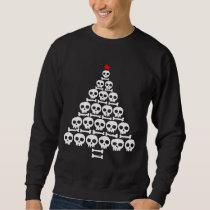 White Skull and Bones Christmas Tree Sweatshirt