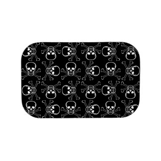 White Skull and Crossbones graphic Pattern Lunch Box
