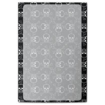 White Skull and Crossbones graphic Pattern Post-it Notes