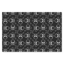 White Skull and Crossbones graphic Pattern Tissue Paper