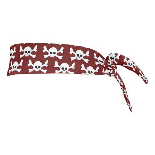 White Skull and Crossbones Headband