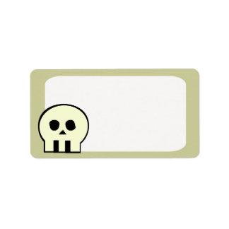 White Skull Label