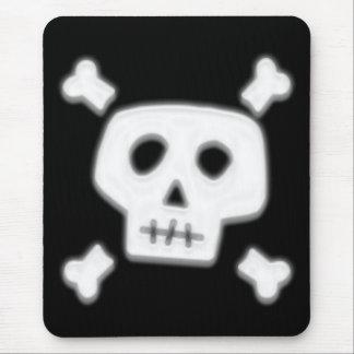 White Skull Mouse Pad