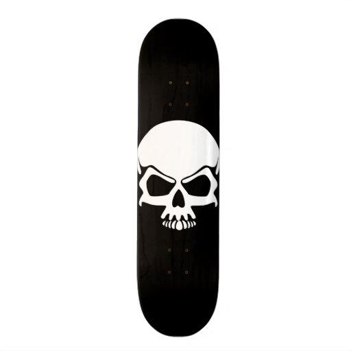White Skull Skateboard