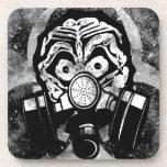 White Skull /w Gas Mask Coaster