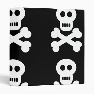 White Skulls 3 Ring Binder