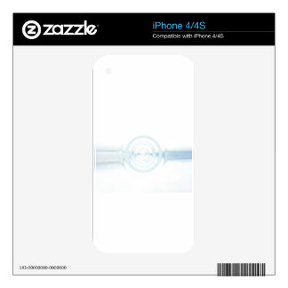 White Sky Blue iPhone 4S Decal