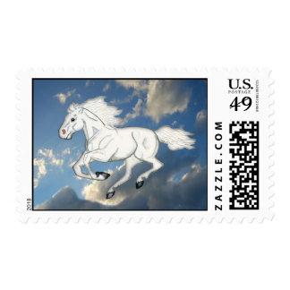White Sky Horse Stamp