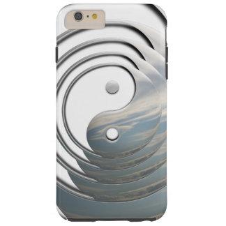 White Sky Yin Yang Tough iPhone 6 Plus Case