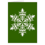 White Slowflakes Ice Crystals Greeting Card