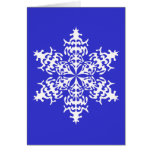White Slowflakes Ice Crystals Greeting Cards