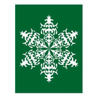 White Slowflakes Ice Crystals Postcard