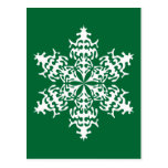 White Slowflakes Ice Crystals Postcards