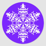White Slowflakes Ice Crystals Stickers
