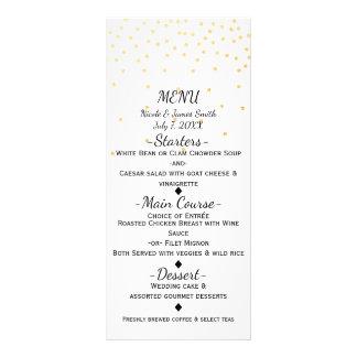 White Small Gold Confetti Elegant Menu Card