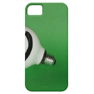 White smiling bulb on green background iPhone SE/5/5s case