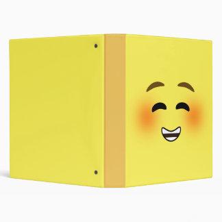 White Smiling Emoji Binder