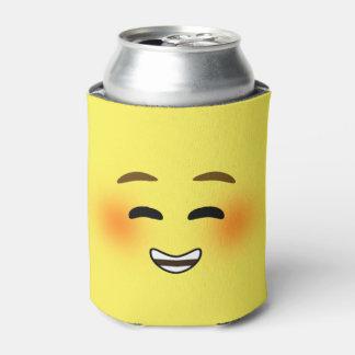 White Smiling Emoji Can Cooler