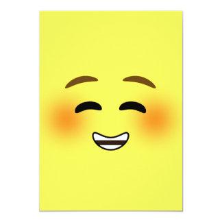 White Smiling Emoji Card