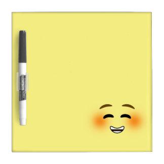 White Smiling Emoji Dry-Erase Boards