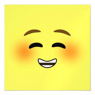 White Smiling Emoji Magnetic Card