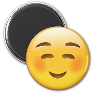 White Smiling Face Emoji Magnet