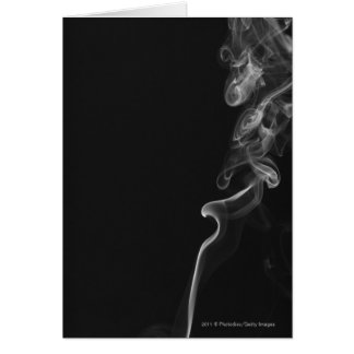 White Smoke Against A Black Background Card