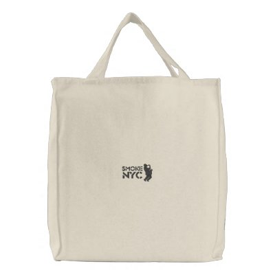 White Smoke Tote Canvas Bags