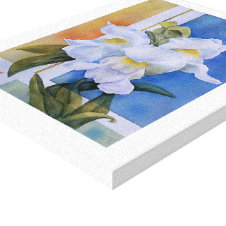 WHITE SNAP DRAGONS WRAPPED CANVAS PAINTING