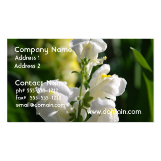 White Snapdragons Business Cards