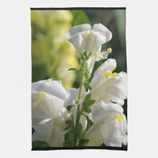White Snapdragons Towel