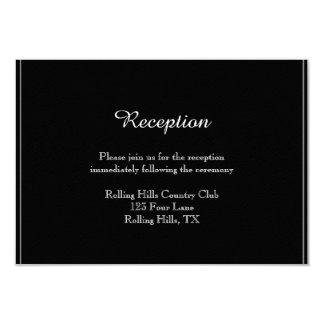 White Snow Bell Flowers Wedding Reception Insert Card