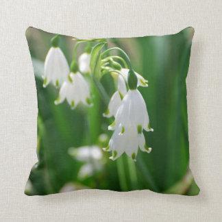 White Snow Drop Lilies Pillow