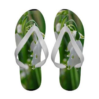 White Snow Drop Lilies Sandals