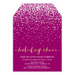 White Snow | Faux Glitter Holiday Party Invitation