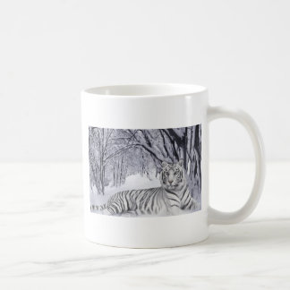 White Snow Tiger Coffee Mug