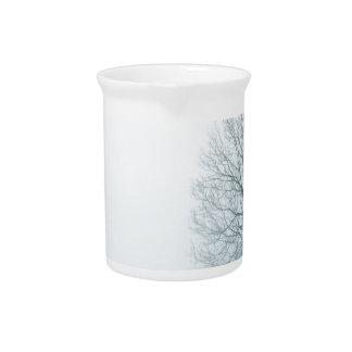 White Snow Tree Beverage Pitcher