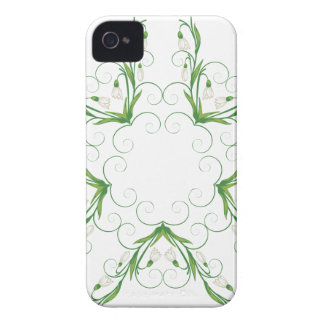 White Snowdrop Flowers 2 Case-Mate iPhone 4 Case