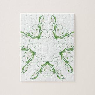 White Snowdrop Flowers 2 Jigsaw Puzzle