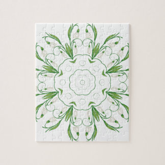 White Snowdrop Flowers 3 Jigsaw Puzzle