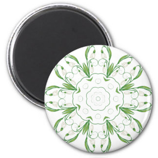 White Snowdrop Flowers 3 Magnet