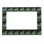 White Snowdrops With Garden Backgound Picture Frame Magnets
