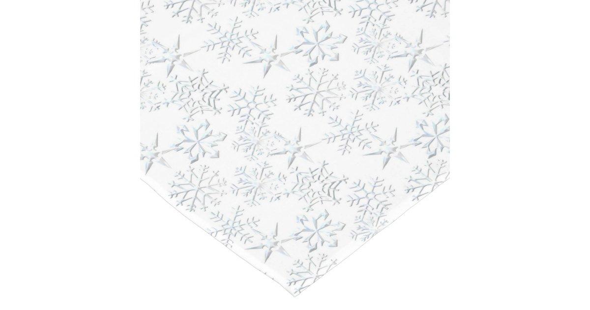 White snowflake Christmas pattern tablerunner Short Table