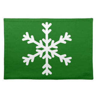 White Snowflake Holiday Placemats