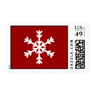White Snowflake Holiday Postage Stamp